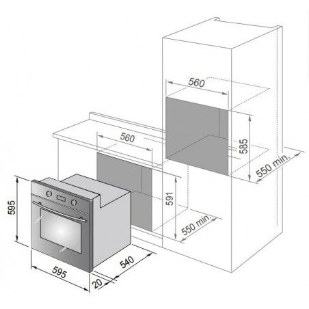 Forno elettrico multifunzione De Longhi YMA6ED 57LT Inox